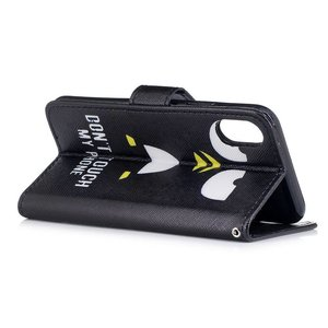 iPhone X portemonnee hoesje don't touch my phone pinguin