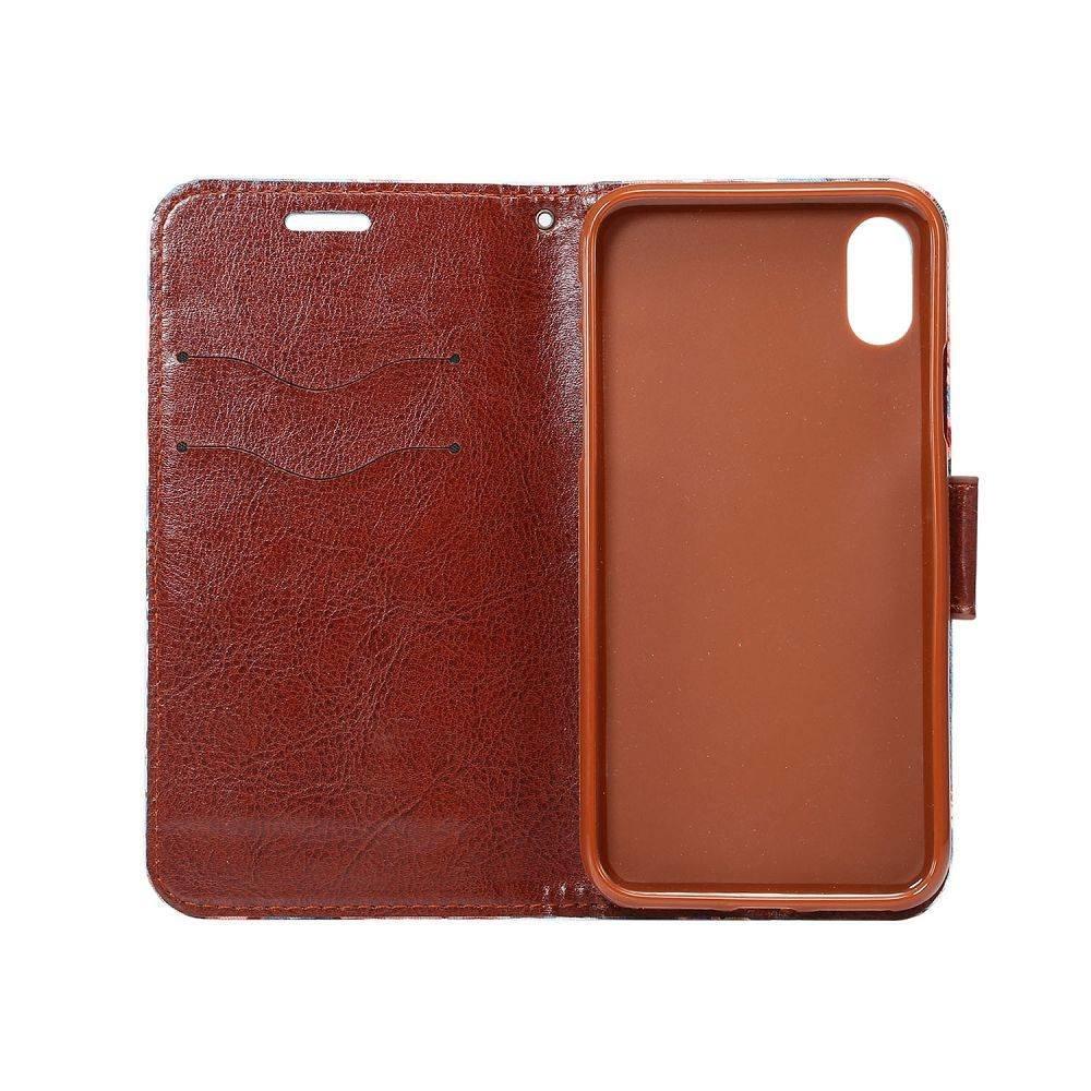 Spijkerstof iPhone X portemonnee hoesje