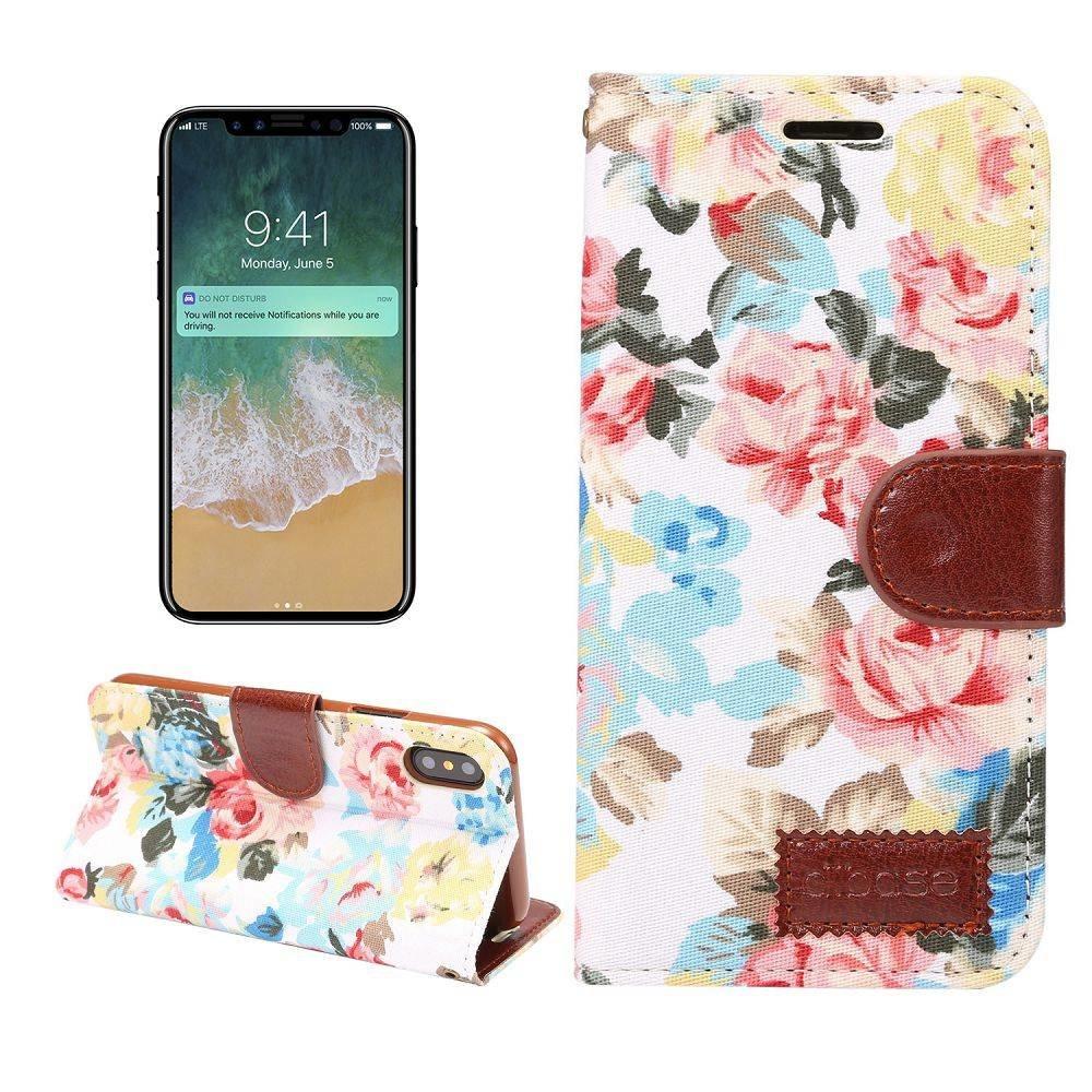 Bloemen  iPhone X portemonnee hoesje