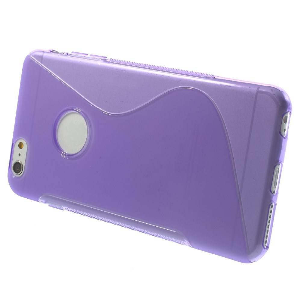 Paars S-line iPhone 6 Plus TPU hoesje