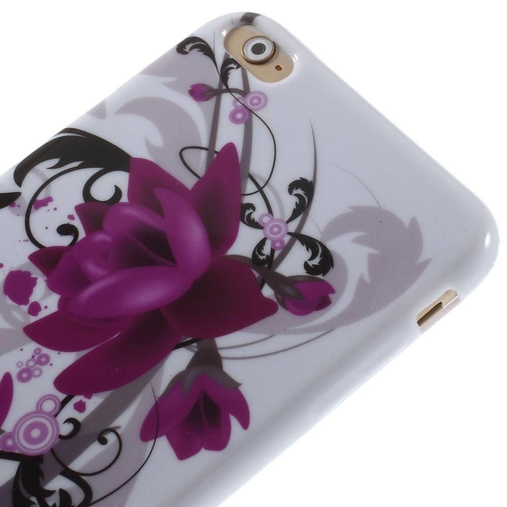 Paarse lotusbloem iPhone 6 plus TPU hoesje