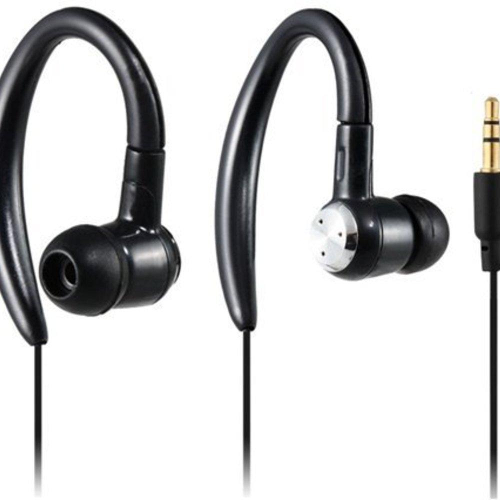 Super Bass hardloop oordopjes sport hoofdtelefoon (zwart)