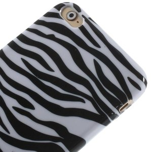 Zebra print iPhone 6 plus TPU hoesje