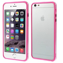 iPhone 6 Plus bumper roze/transparant