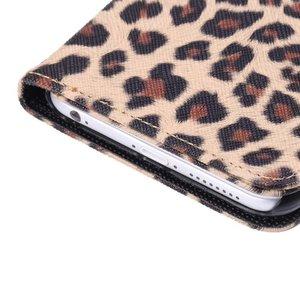 Luipaard print iPhone 6 plus portemonnee hoesje