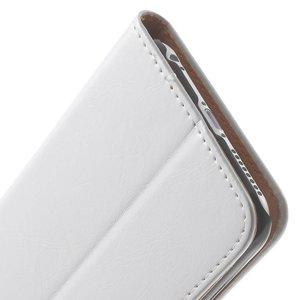 Wit pu lederen iPhone 6 plus portemonnee hoes