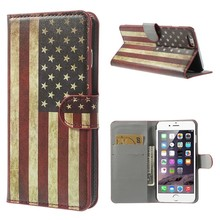 Stars and stripes iPhone 6 plus portemonnee hoes