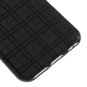 Zwart geruit iPhone 6 TPU hoesje