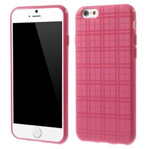 Roze geruit iPhone 6 TPU hoesje