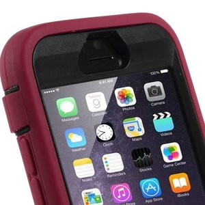 Heavy duty iPhone 6 hoes roze