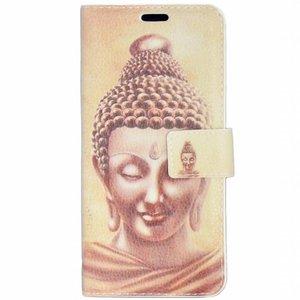Buddha pu leren iPhone X portemonnee hoesje