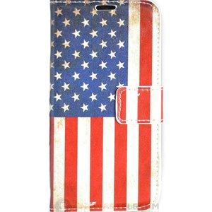 Amerikaanse vlag  portemonnee hoesje iPhone 7+ en iPhone 8+