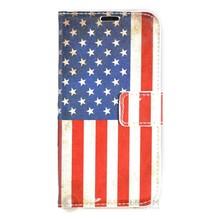 Amerikaanse vlag  portemonnee hoesje samsung galaxy S7 EDGE