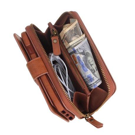 BRG Bruine portemonnee hoes voor de iPhone 7 PLUS