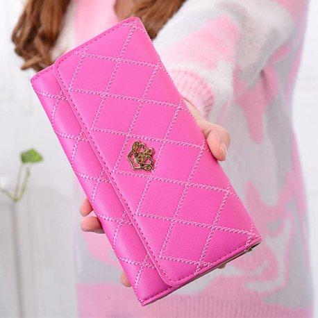 Lady Leather Crown Wallet diverse kleuren