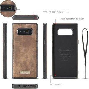 CaseMe Bruine multifunctioneel wallet hoesje Samsung Galaxy Note 8