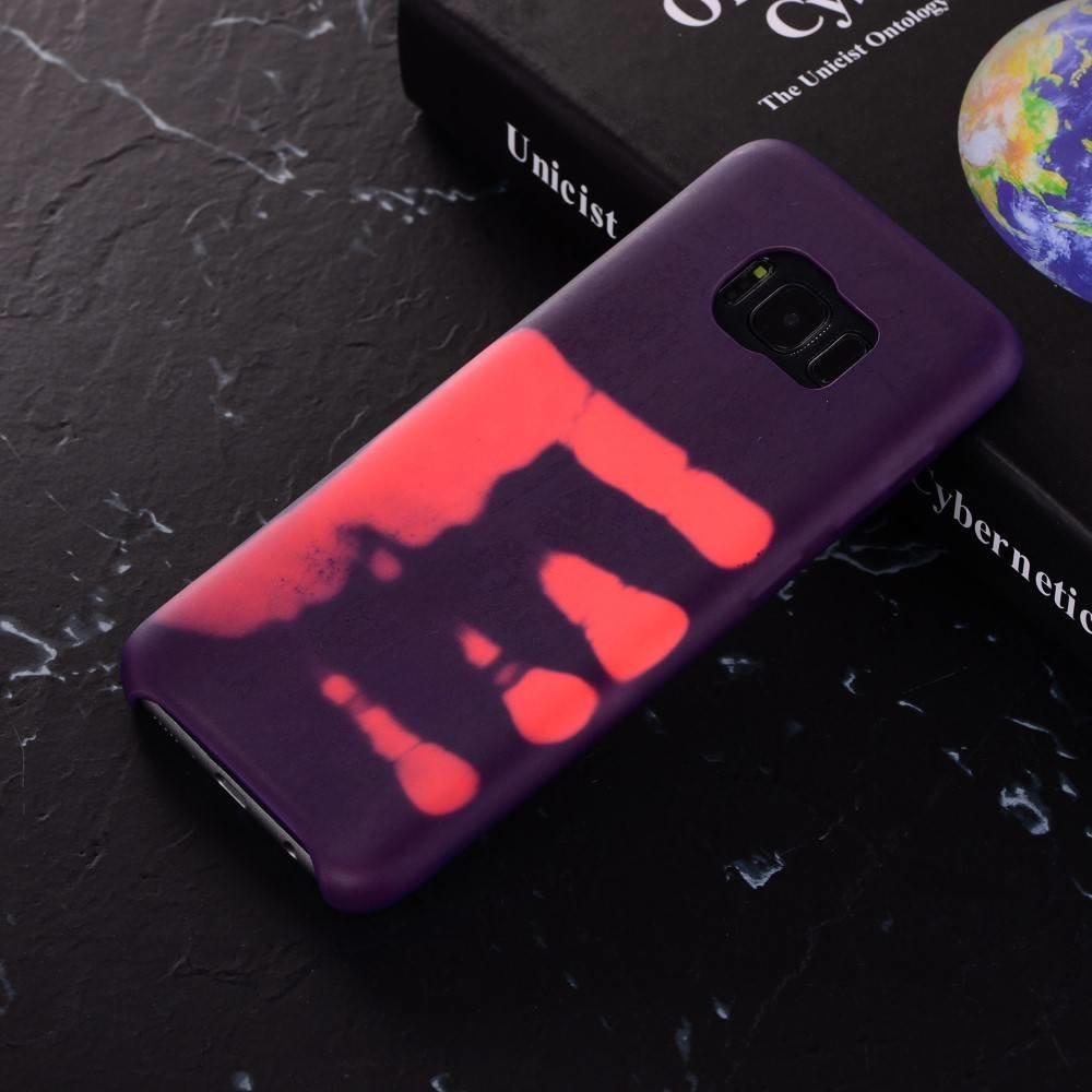 Thermo hoesje Samsung galaxy S8 paars wordt roze bij warmte