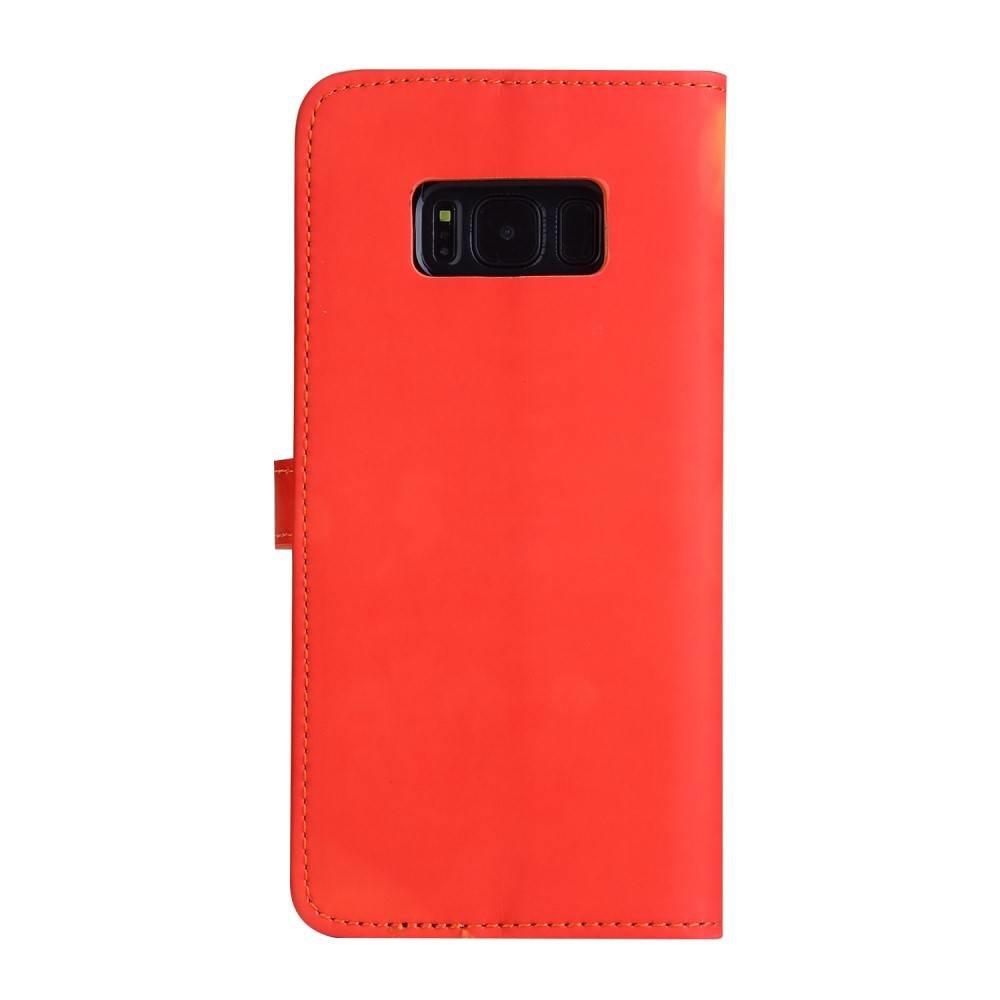 Thermo portemonnee  hoesje Samsung S8 PLUS  Rood wordt geel bij warmte