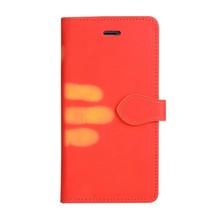 Thermo portemonnee  hoesje iPhone 7 PLUS en iPhone 8 PLUS Rood wordt geel bij warmte