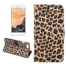 Portemonnee hoesje Luipaard bruin iPhone 7 PLUS en iPhone 8 PLUS