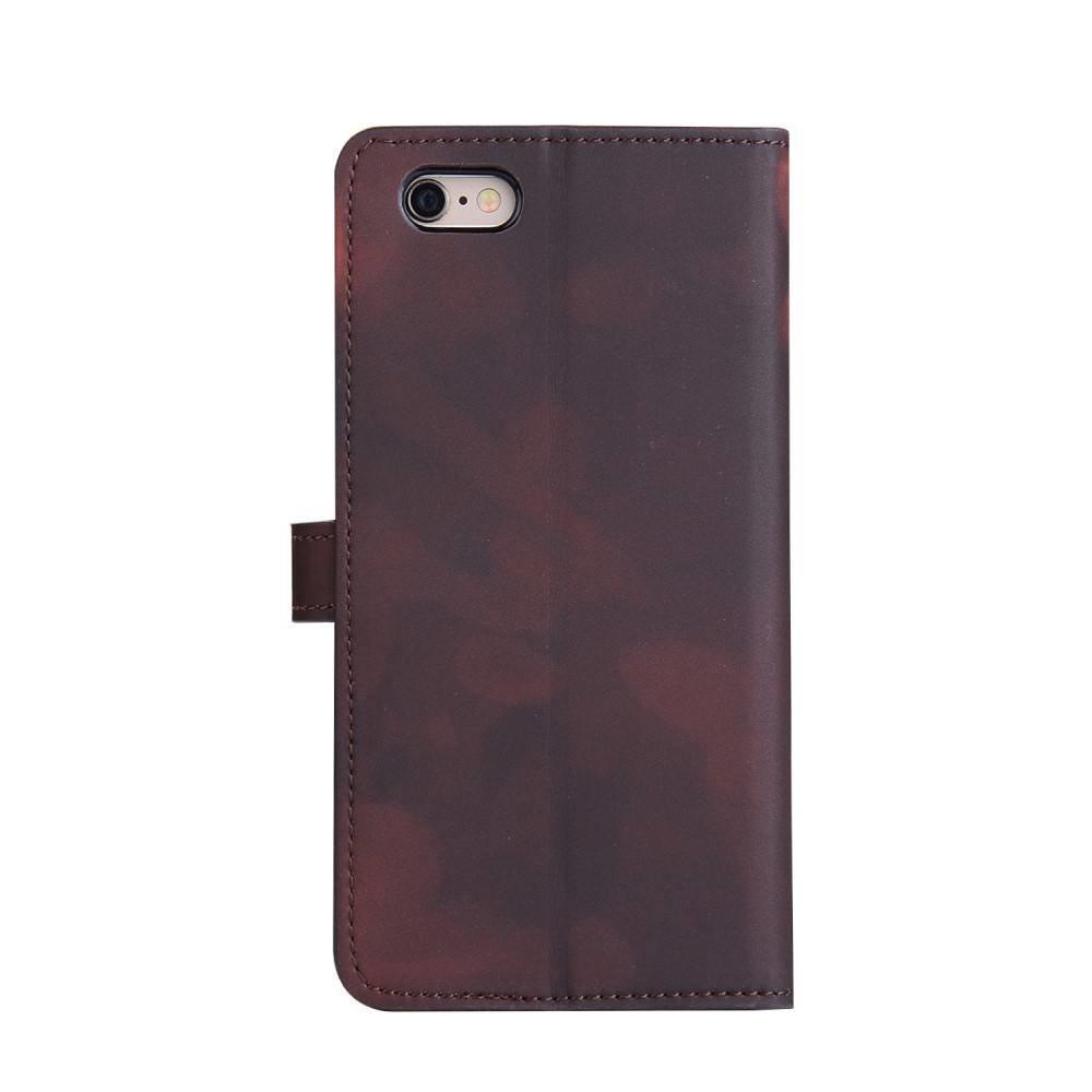 Thermo portemonnee  hoesje iPhone 6 Bruin wordt oranje bij warmte