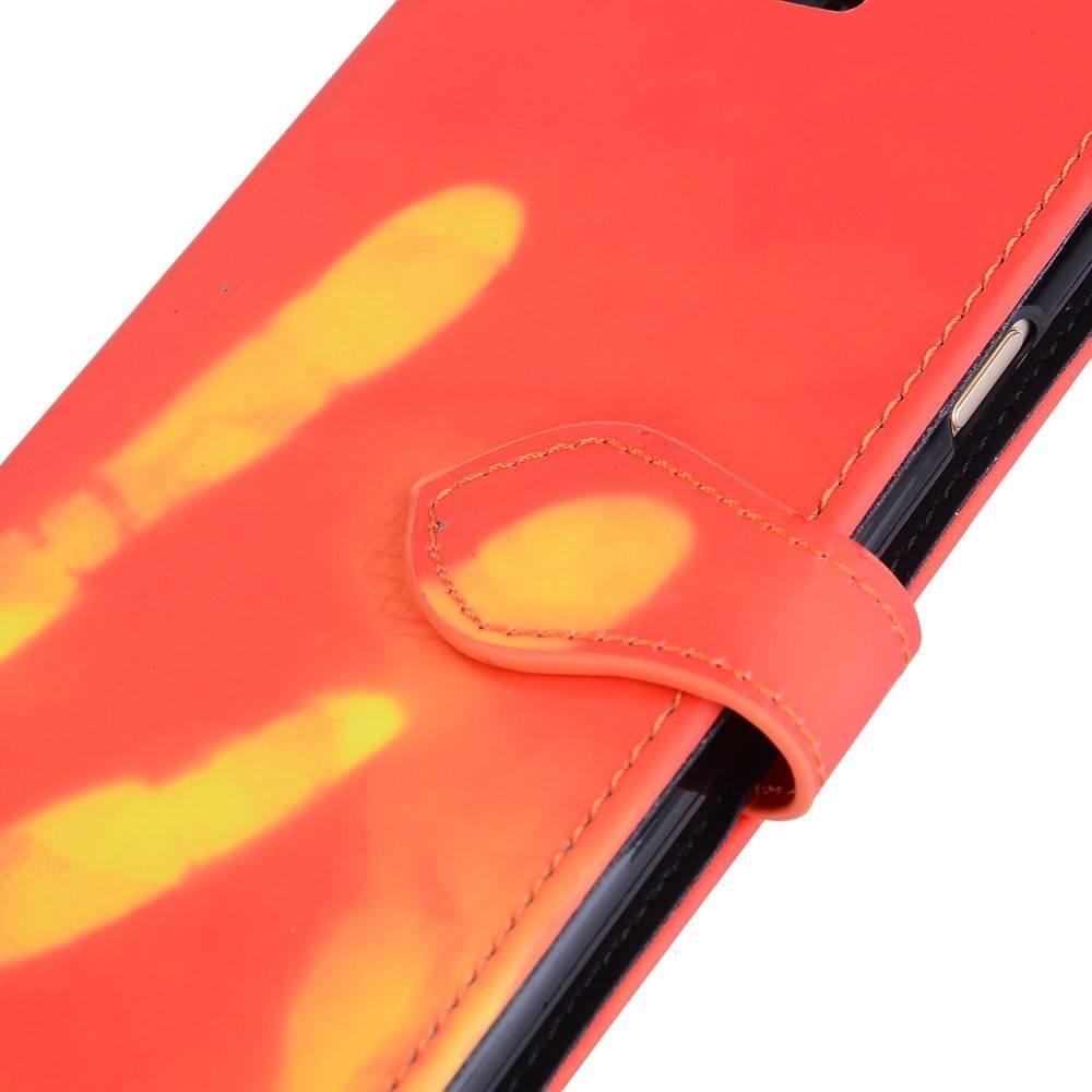 Thermo portemonnee  hoesje iPhone 6 Rood wordt geel bij warmte