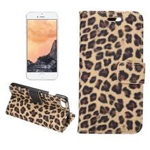 Luipaard bruin iPhone 7 en iPhone 8 Portemonnee hoesje