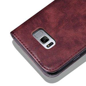 Wijn rood luxe afgewerkt Samsung S8 PLUS portemonnee hoesje