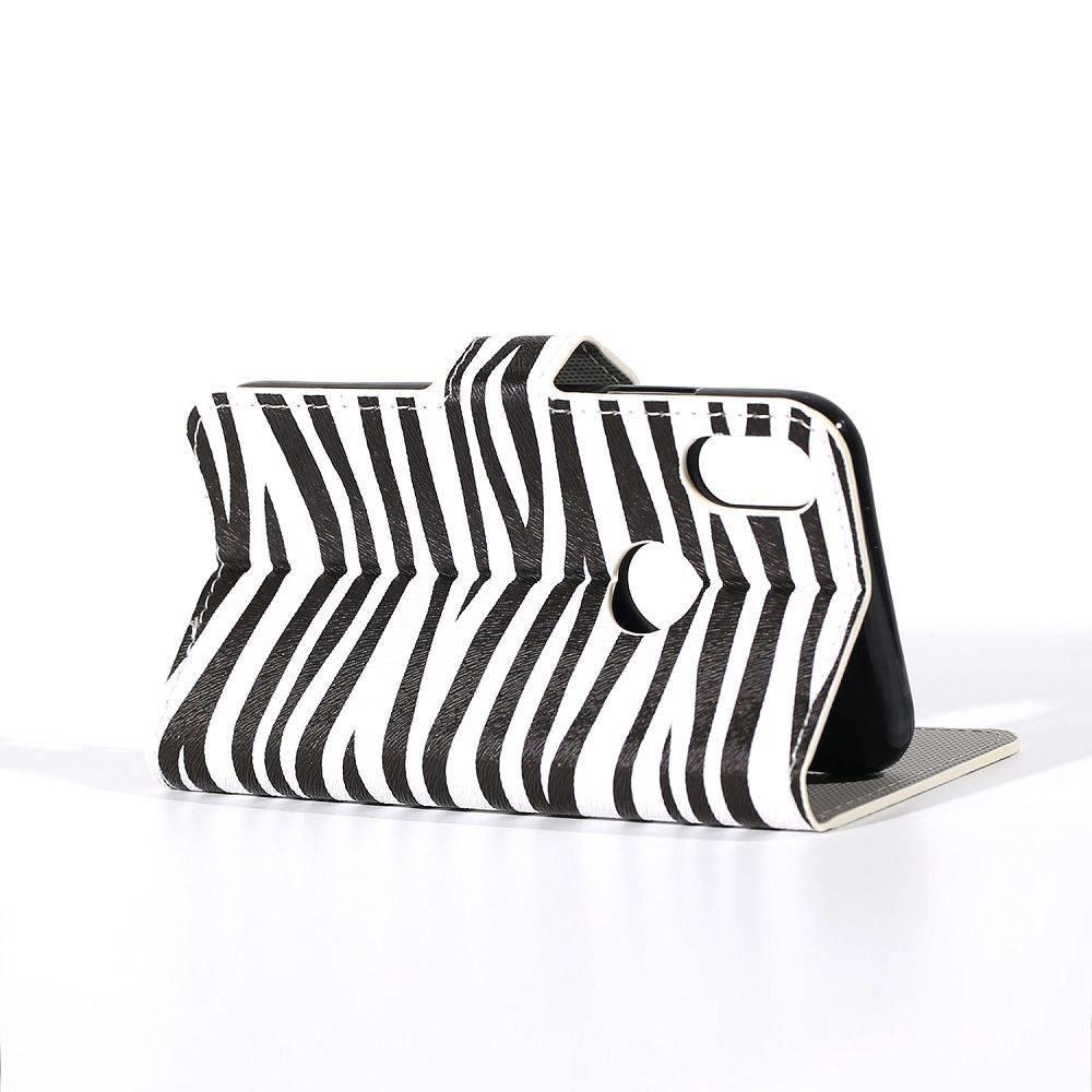 Zebra print iPhoneX portemonnee hoes