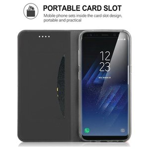 JustinCase Zwarteslimline  wallet hoesje Samsung Note 8
