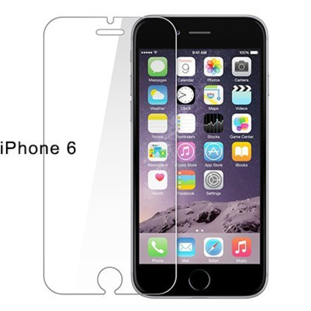 Tempered glass screenprotector iPhone 6 (S)