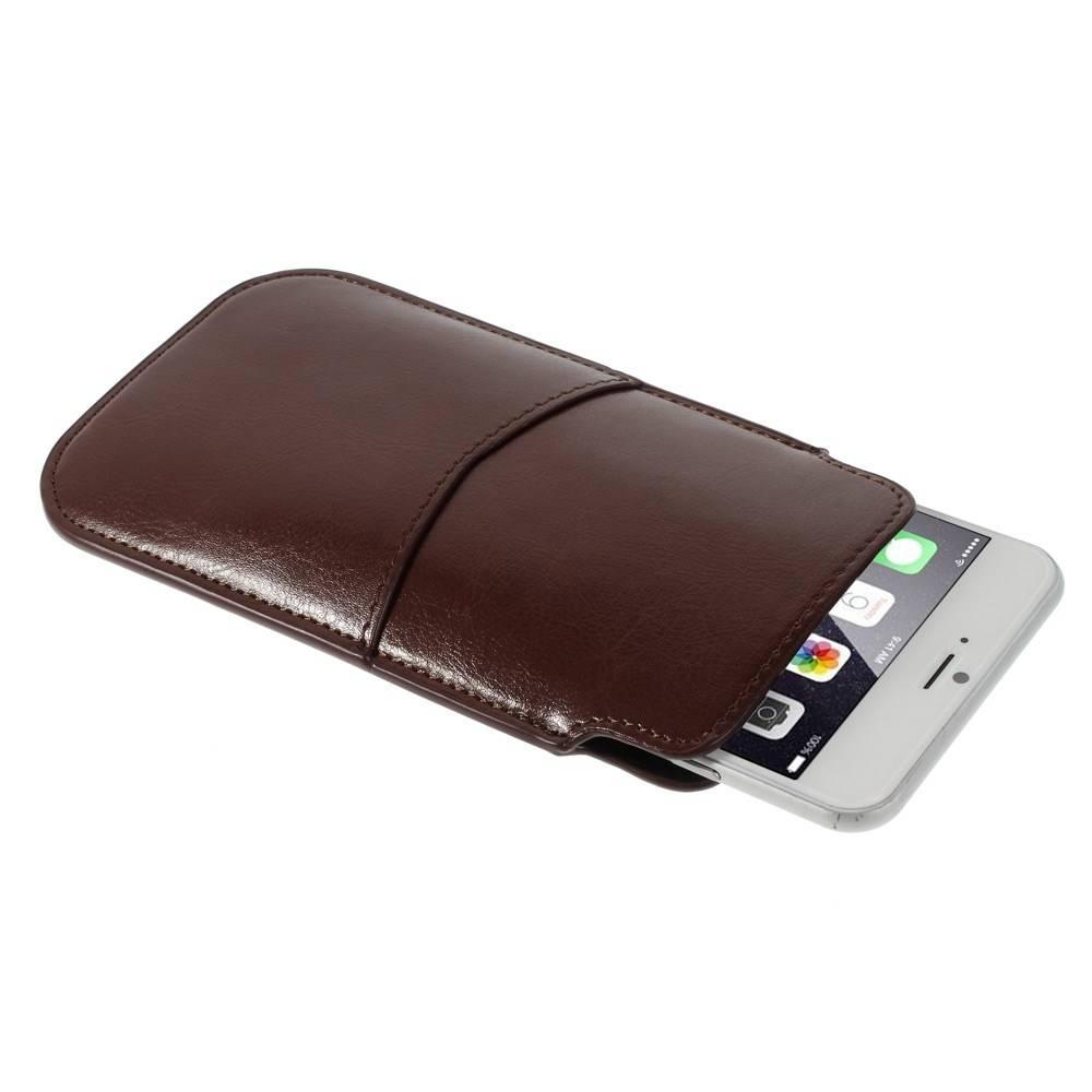 iPhone 6 plus insteek hoesje Bruin