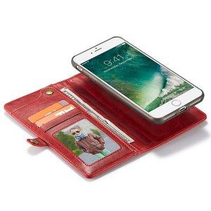 CaseMe QIN serie Rode multifunctioneel hoesje iPhone 7 PLUS  en 8  PLUS