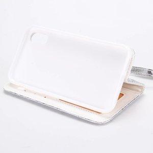 Gewatteerd iPhone X Portemonnee hoesje in diverse kleuren
