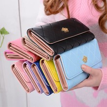 Lady Leather Crown Wallet diverse kleuren