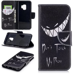 Dont touch my phone Samsung Galaxy S9 portemonnee hoesje