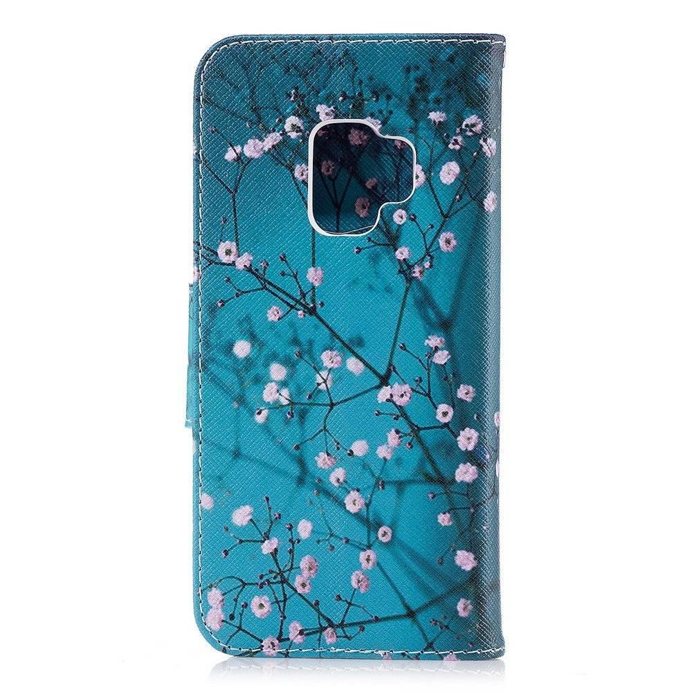 Samsung S9 portemonnee hoesje bloesem
