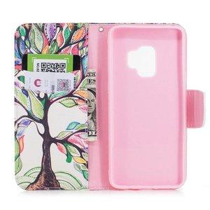 Kleurrijke boom Samsung S9 portemonnee hoesje