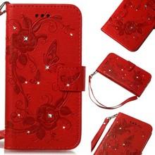 Rode met glimmertjes afgewerkt Samsung Note 8 boekhoesje