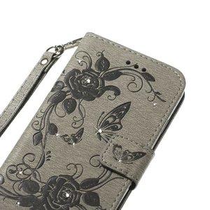 Grijze met glimmertjes afgewerkt Samsung Note 8 boekhoesje