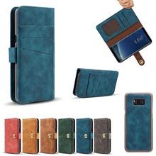 Zacht Kunstleren Samsung Note 8 portemonnee hoesje met los te maken case