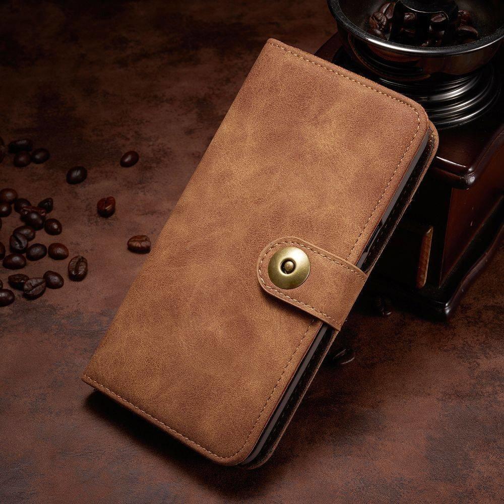 Zacht kunstleren Samsung Galaxy Note 8 portemonnee hoesje met los te maken case