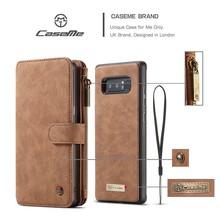CaseMe 14 vaks 2 in 1 wallet hoesje Samsung Note 8 echt Split leer