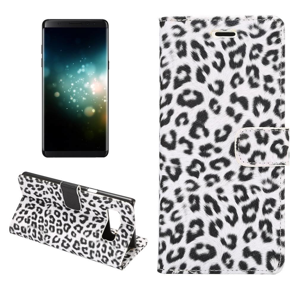 Luipaard wit Samsung Galaxy Note 8 Portemonnee hoesje