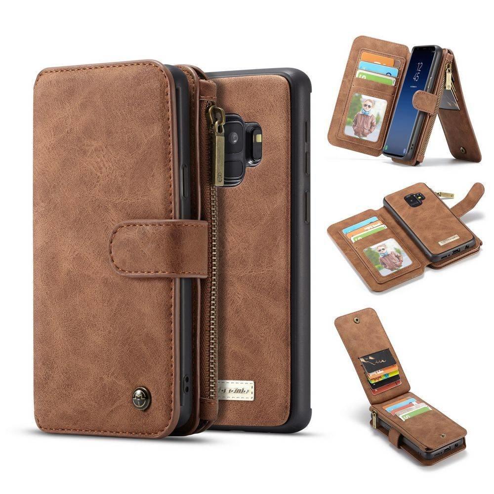 CaseMe 14 vaks 2 in 1 wallet hoesje Samsung Galaxy S9 PLUS Split leer