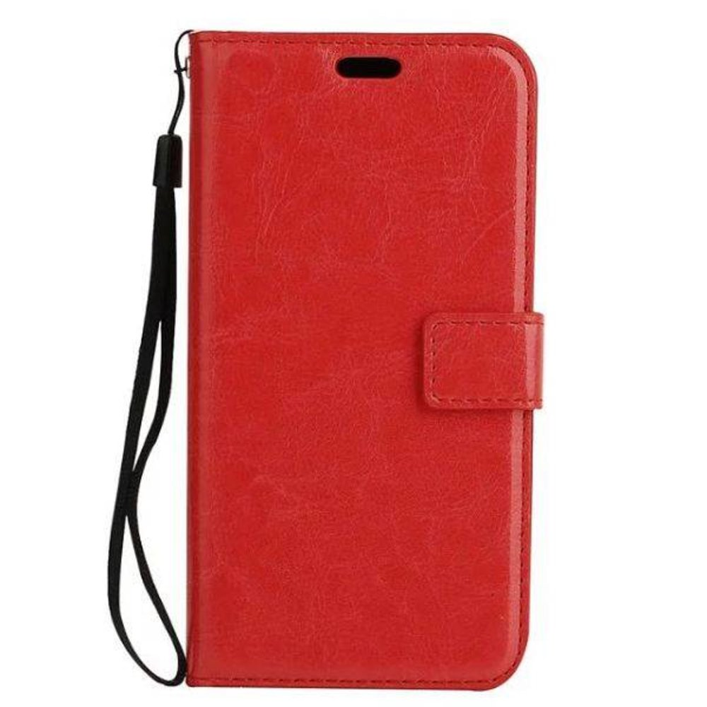 Crazy horse rode pu leren iPhone 7 en 8 portemonnee hoesje