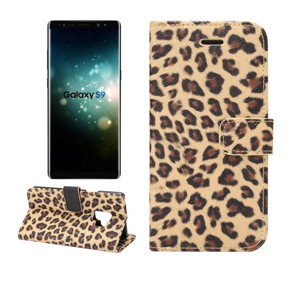 Luipaard print Samsung Galaxy S9 portemonnee hoesje