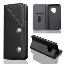 Zwarte luxe afgewerkt Samsung S9 portemonnee hoesje