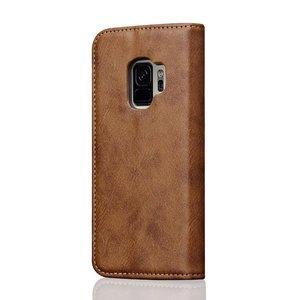 Bruine luxe afgewerkt Samsung S9 portemonnee hoesje