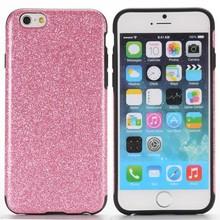 Roze glitters iPhone 6 TPU hoesje